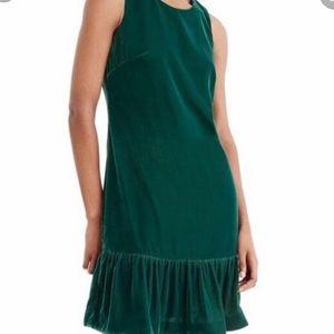 J Crew green velvet dress 👗